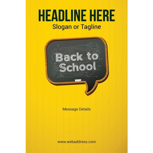 Custom Poster, Back To School, Vertical