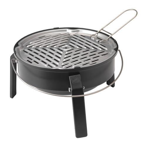 KORPN Portable charcoal grill, black