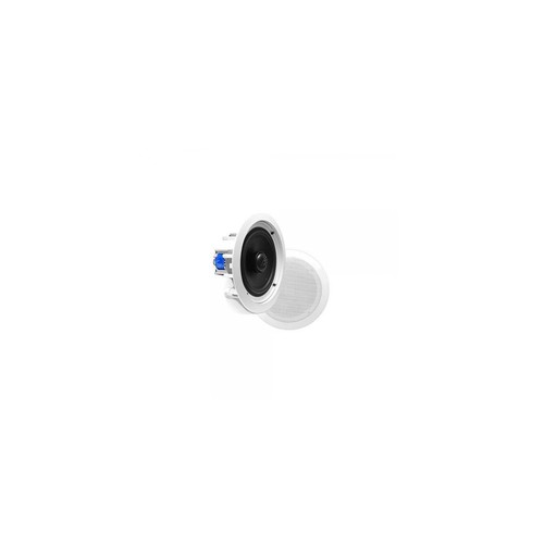 Pyle PDIC60T In-Wall / In-Ceiling Dual 6.5-Inch Speaker System, 70V Transformer, 2-Way, Flush Mount, White (Pair)