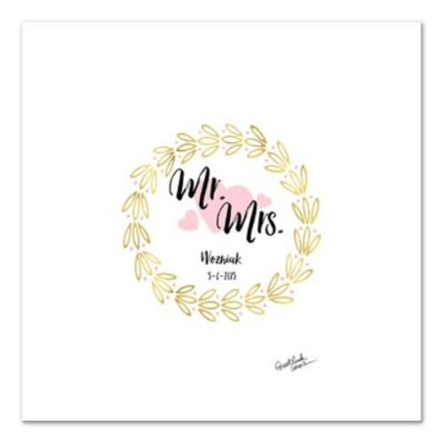 Ring of Love Guest Book 36-Inch Canvas Wall Art