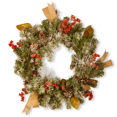 24-inch Christmas Wreath With Cones