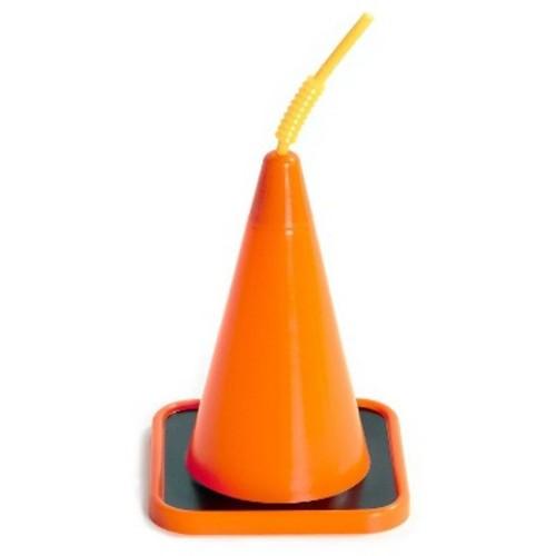 Orange Construction Cone Cup Party Favor