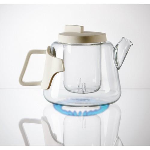 Era Glass & Porcelain Teapot design by Seletti
