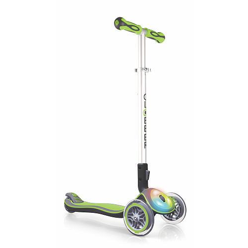 Globber 3 Wheel LED Folding Scooter - Green