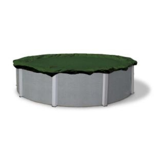 Blue Wave 12-Year 30 ft. Round Forest Green Above Ground Winter Pool Cover