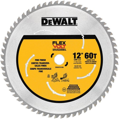 DEWALT FLEXVOLT 12 in. 60-Teeth Miter Saw Blade