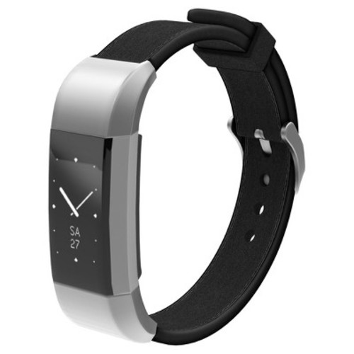 North Charge 2 Leather Fitness Monitor Strap - Black