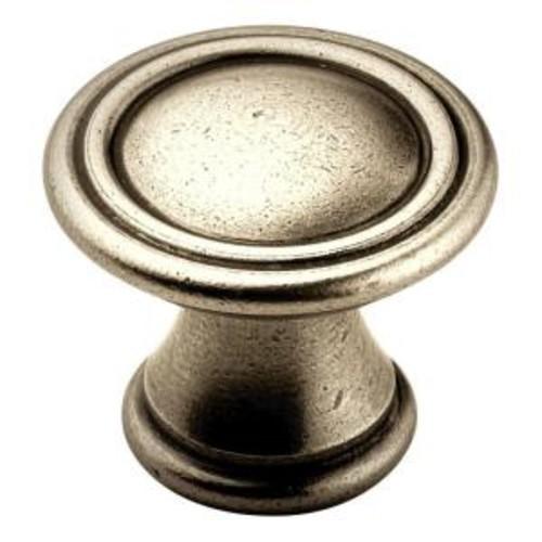 Amerock 1-3/16 in. Antique Nickel Cabinet Knob