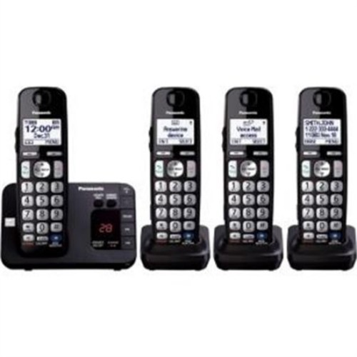 Panasonic DECT 6.0 1.90 GHz Cordless Phone - Black KX-TGE234B