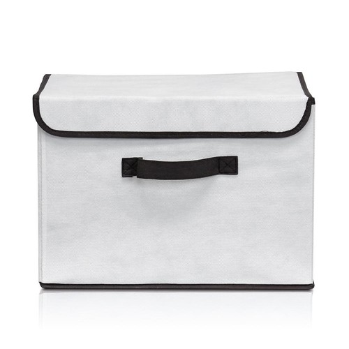 Llytech Inc Non-Woven Fabric Beige Storage Bin with Lid