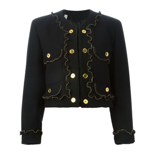MOSCHINO VINTAGE Zipper Detail Jacket