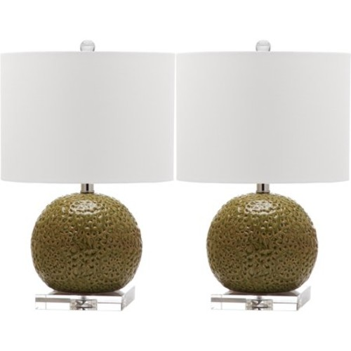Safavieh Indoor 1-light Conway Spring Green Table Lamp (Set of 2)