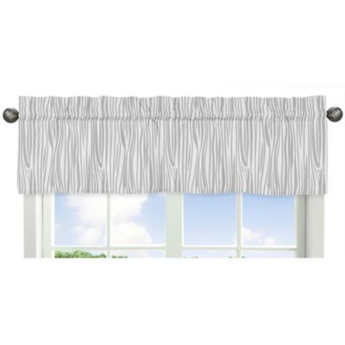 Sweet Jojo Designs Woodsy Wood Grain Print Window Valance in Grey/White