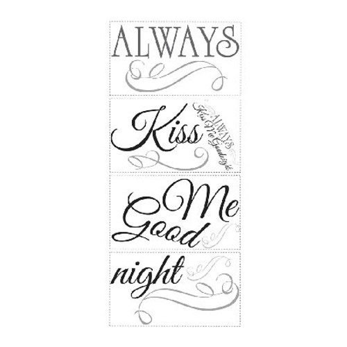RoomMates Always Kiss Me Goodnight Peel \u0026 StickWall Decals