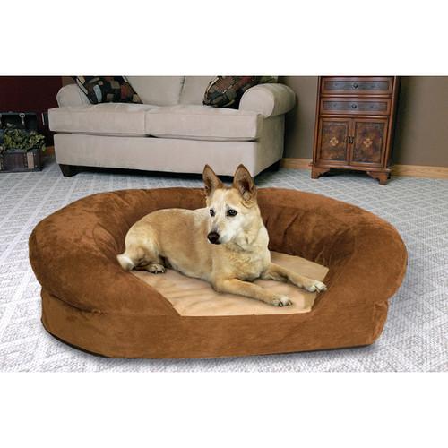 K&H Manufacturing Large Orthopedic Bolster Velvet Pet Bed [option : 4721 Ortho Bolster Sleeper LG Brown Velvet 40