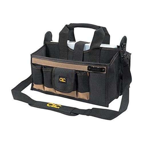 Custom Leathercraft 15 Pocket 16 in. Center Tray Tool Bag [Multi]