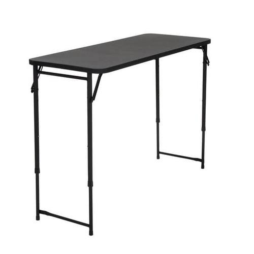 COSCO 20 x 48 Adjustable Height PVC Top Black Table