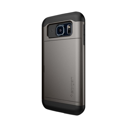 Spigen - Slim Armor CS Case for Samsung Galaxy S7 Cell Phones - Gunmetal