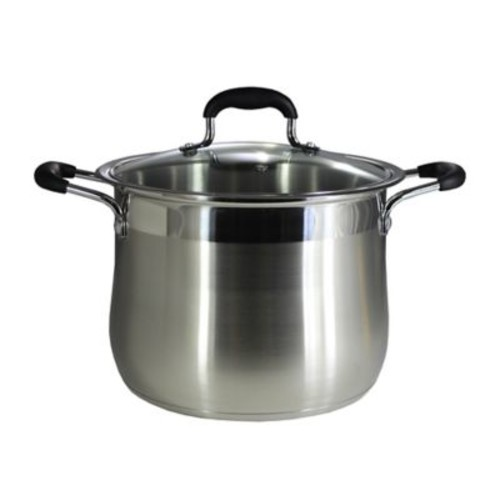 Concord Stainless Steel Stock Pot w/ Lid; 12 Quarts