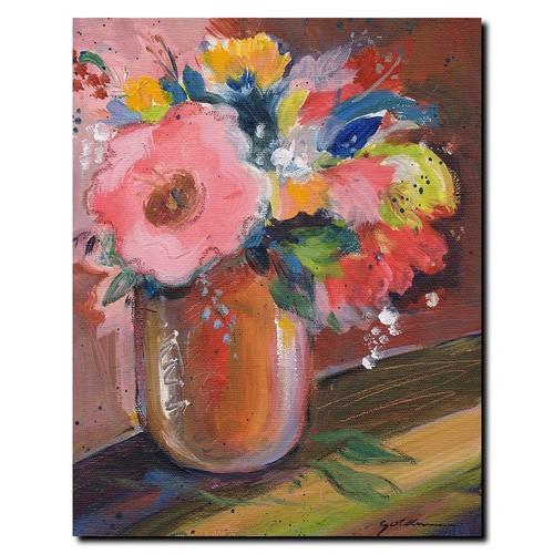 Trademark Global Sheila Golden 'Copper Bowl' Canvas Art [Overall Dimensions : 18x24]