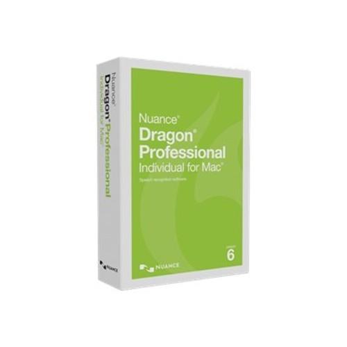 Nuance Communications Dragon Professional Individual for Mac - (v. 6) - box pack - 1 user - DVD - Mac - US English (S601A-G00-6.0)