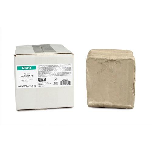 American Art Clay Air Dry Clay; Gray, 25 lb.