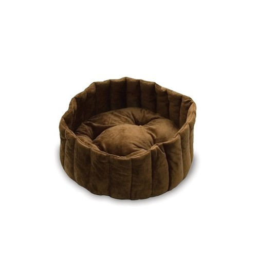 K&H Pet Products Kitty Kup Bed Large Tan / Mocha 20