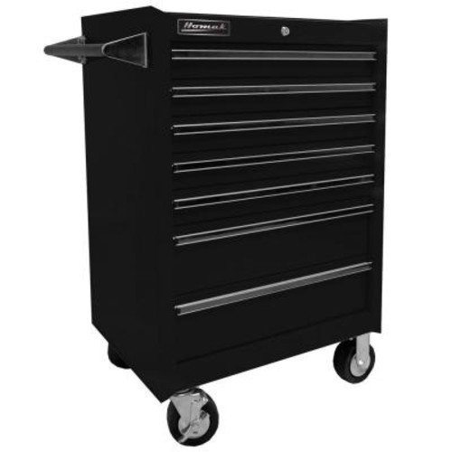 Homak Professional 27 in. 7-Drawer Rolling Cabinet, Black