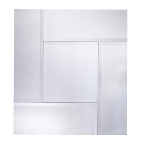Square Decorative Wall Mirror Silver - Yosemite Home Decor