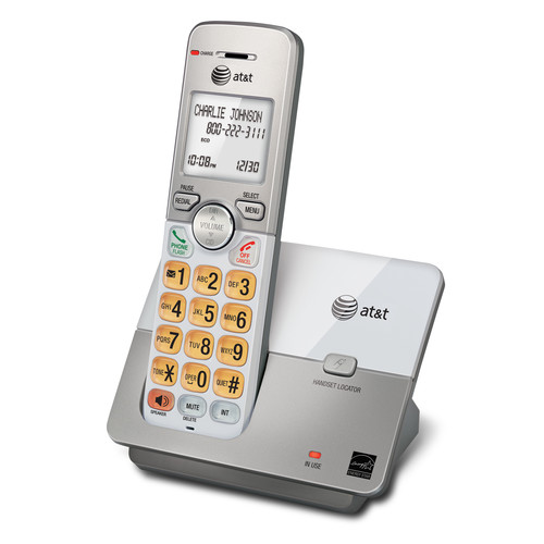 AT&T EL51103 DECT 6.0 Expandable Cordless Phone with Caller ID/Call Waiting, Silver, 1 Handset