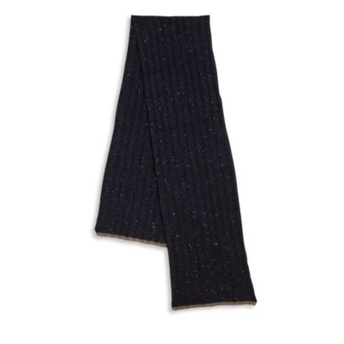BRUNELLO CUCINELLI Ribbed Wool & Cashmere Blend Scarf