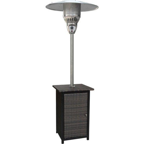 Hanover 7-Ft. Square Wicker Propane Patio Heater