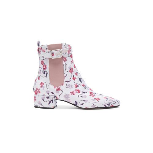 Altuzarra Jacquard Parnassus Chelsea Boots in Lilac Multi