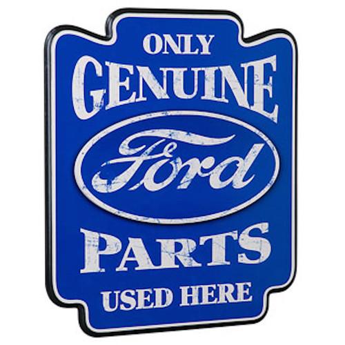 Ford Genuine Parts Pub Wooden Sign Contour Cut FRD-45300