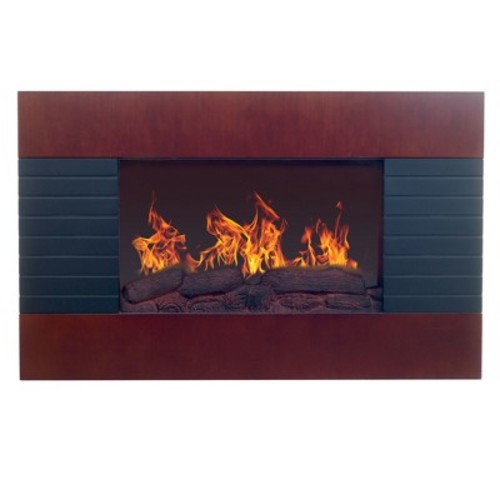 Northwest 35 in. Electric Fireplace with Wall Mount and Remote in Mahogany