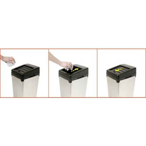 iTouchless Automatic Colored Steel Touchless Trash Cans SX