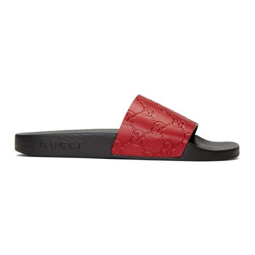 GUCCI Red Pursuit Trek Sandals
