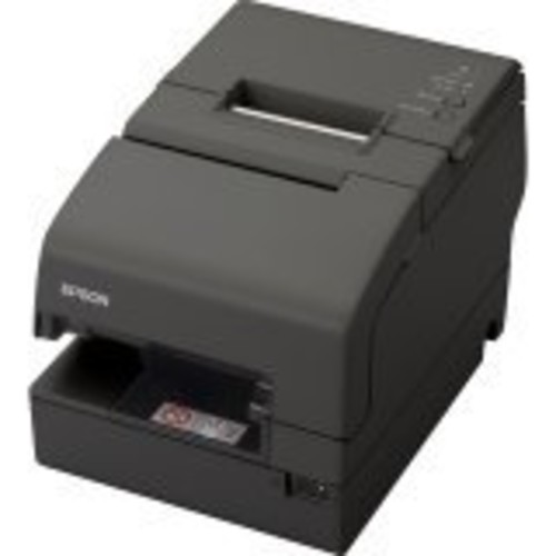 Epson C31CB25A8771 TM-H6000IV Multifunction Printer, 9 Pin, Without MICR, Drop in Validation, Serial and USB Interfaces, Without PS-180, Dark Gray
