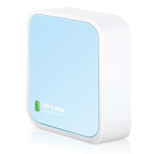 TP-Link Wireless N Nano Router - 300Mbps, 2.4 to 2.48GHz, Supports Router/Repeater/Client/AP/WISP Modes, 64/128/152 bit WEP, WPA/WPA2, 1 x WAN/LAN Port, Micro USB, Pocket Sized - TL-WR802N