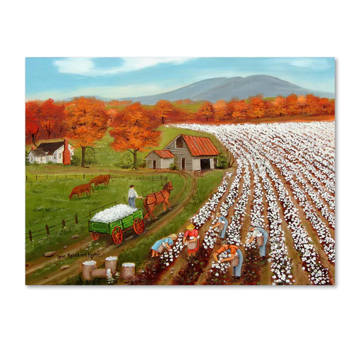 Arie Reinhardt Taylor 'Cotton Fields And Bakers Mountain' Canvas Art