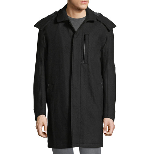 Marc New York by Andrew Marc Boulevard Coat w/ Removable Hood, Black