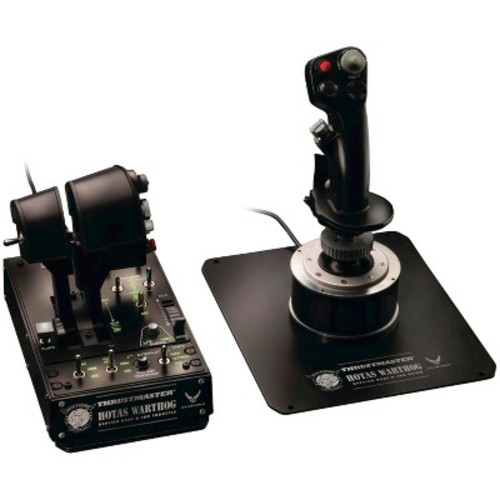 Thrustmaster Hotas Warthog Flight Controller: Replica USAF A-10C Throttle and Stick - Black PC