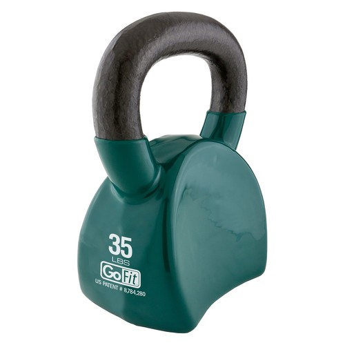 GoFit 35 lb Contour Kettlebell