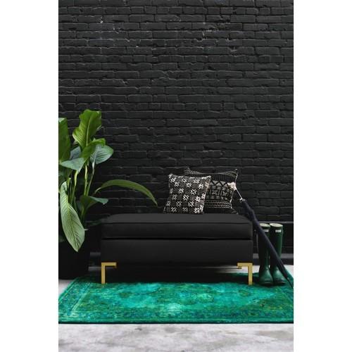 Vorana Velvet Bench, Black