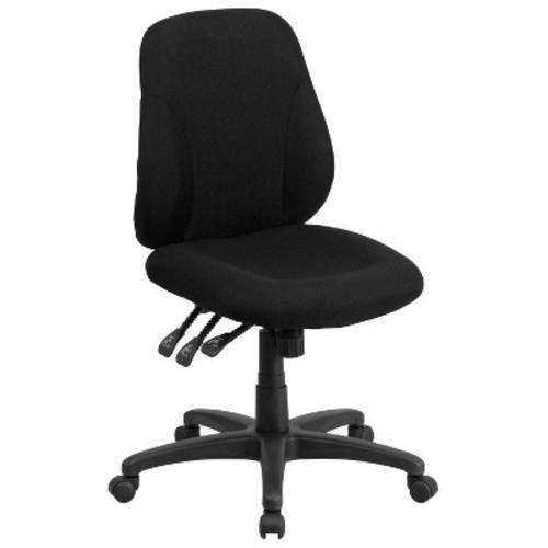 Multi-Functional Ergonomic Swivel Task Chair Black - Flash Furniture