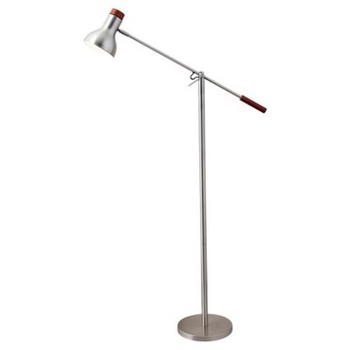 Adesso Watson Floor Lamp - Silver