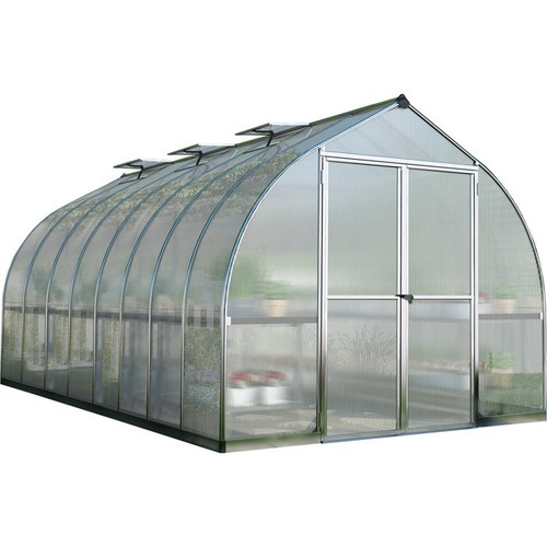 Pelram Bella Hobby Greenhouse  16ft. x 8ft., Silver Frame, Model# HG5416