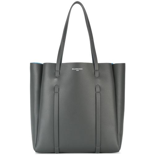 Medium Black Leather Everyday Tote bag