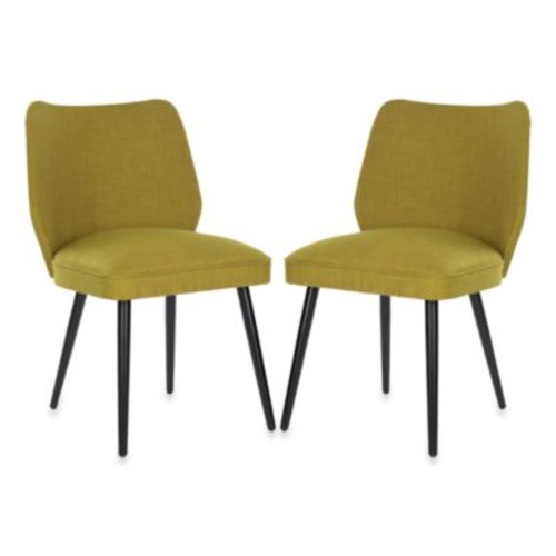 Safavieh Ethel Dining Chair in Green (Set of 2)