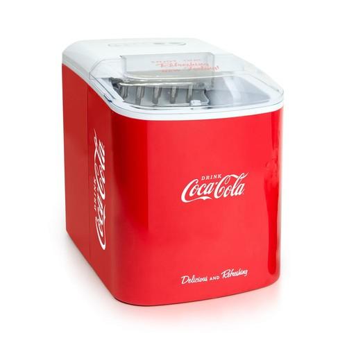 Nostalgia 26 lb. Coca Cola Automatic Portable Ice Maker in Red